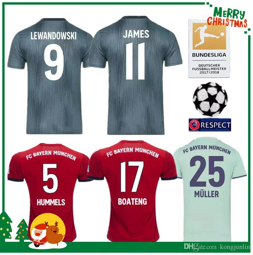 2019 2018 2019 Bayern Munich JAMES VIDAL RIBERY GOTZE SANCHES LAHM Home Away  Jerseys 18 19 LEWANDOWSKI MULLER ROBBEN BOATENG ALABA Sports Shirt From ... 878db24cb