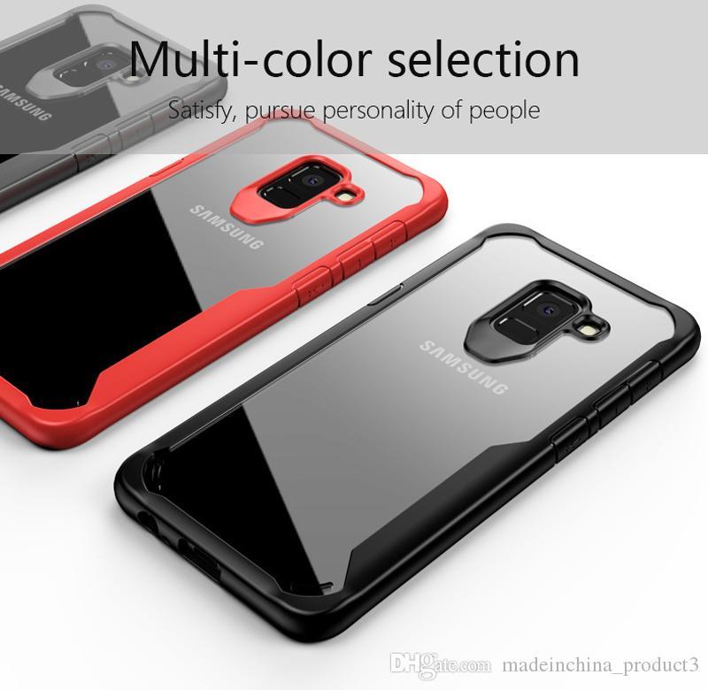 a938d49eee3 Protectores Para Celulares Personalizados Funda Transparente A Prueba De  Golpes Para IPhone X 8 Plus Tapa Trasera Suave De TPU Para Samsung Galaxy  A8 S9 S8 ...