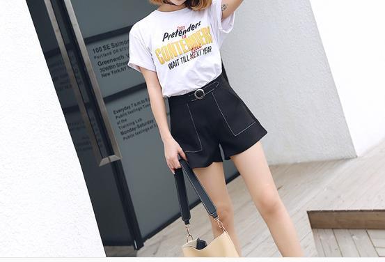 Compre La Primavera Y El Verano De 2018 Nuevos Pantalones Cortos Femeninos  Usan Pantalones Anchos Coreanos De Pierna Suelta Pantalones Anchos De Todos  Los ... 9db3630a4d76