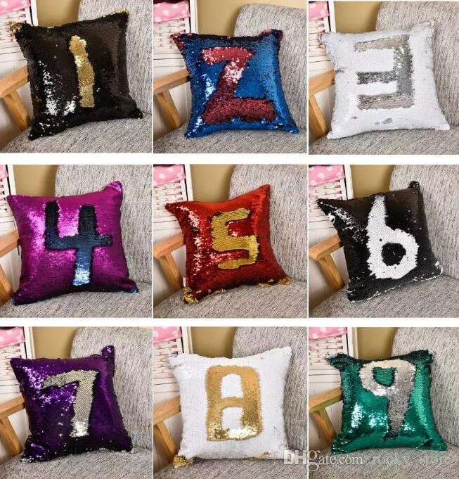 Sequins Throw Pillow Case Best New Created Hot DIY Two Tone Glitter Interesting How To Make A Decorative Pillow Case