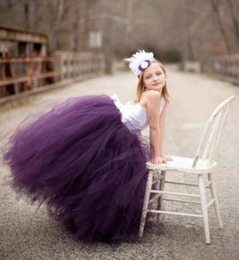 ee3dca6cd Plum Flower Girl Dress Corset Top And Tutu Skirt Create Your Own ...
