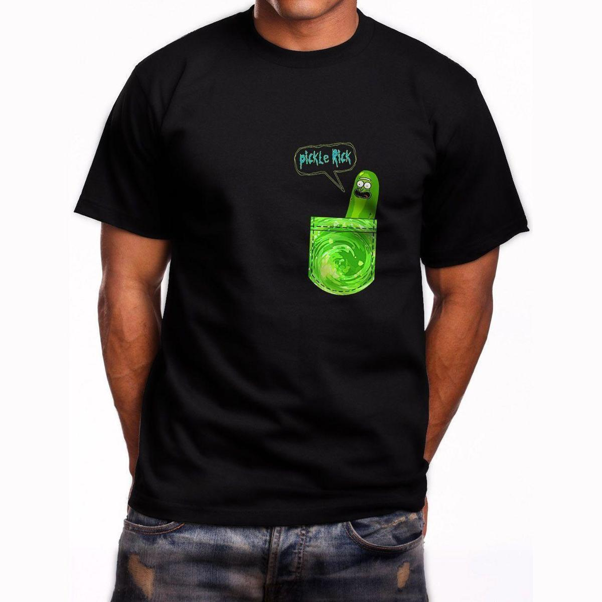 1481f4b8 New Pickle Rick Pocket T Shirt Printed T Shirt Funny T Shirts For Guys From  Linnan001, $14.67| DHgate.Com