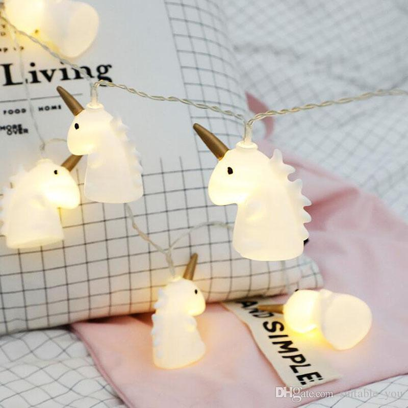 Christmas Tree Toppers Decorate Lamp String Unicorn Mini Horse