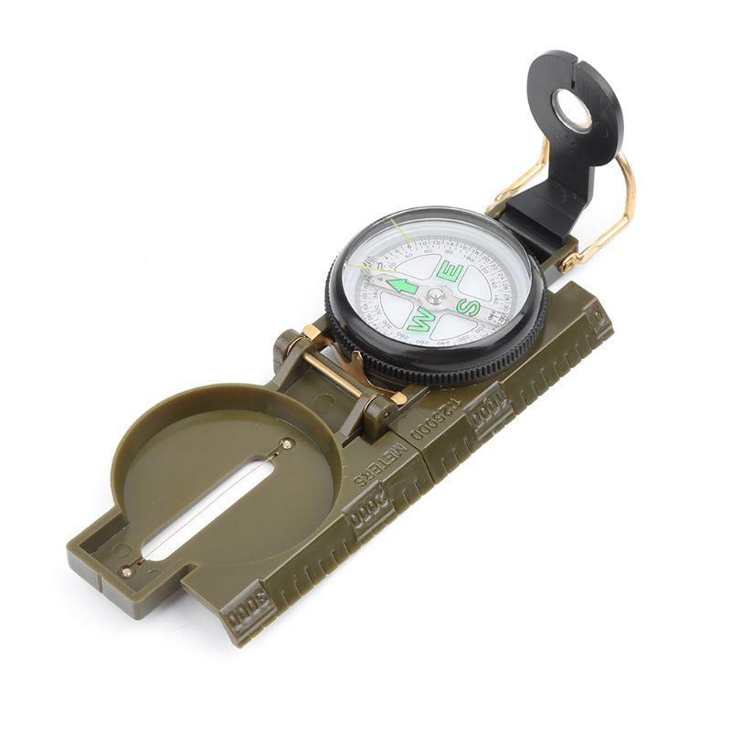 Portable Army Folding Lens Compass Multifunction Dashboard Outdoor Tool