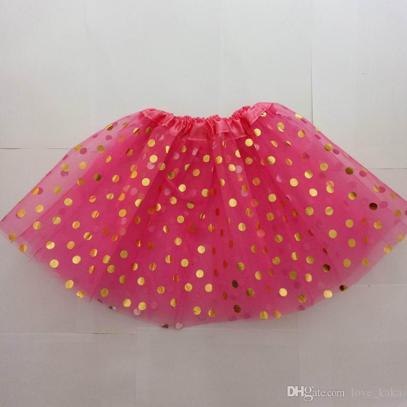 DHL Free Gold polka dot girls tutu skirt christmas tutus kids tutu skirt baby toddler skirts red infant pettiskirt newborn photography props