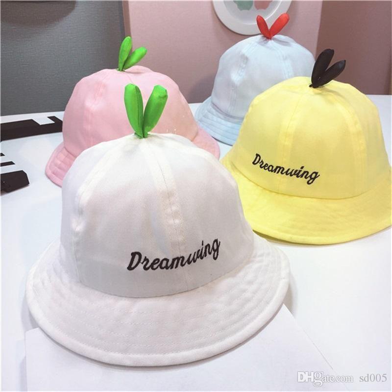53e39870f5f Mini Grass Kawaii Designer Fisherman Hat For Kids Baby Cartoon Cute ...
