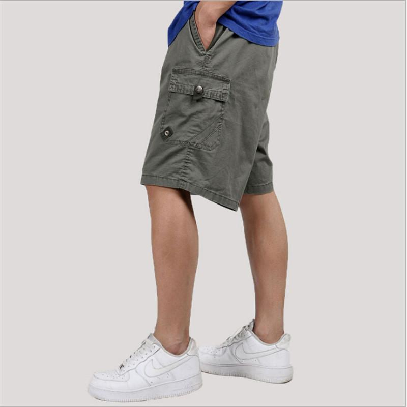 8f77b9332ebce 2019 Plus Size Man Cargo Short Summer 5Xl 6Xl Causal Fashion Male Army  Green Shorts Men Loose With Pockets Cotton Mens Shorts A3165 From  Colin scot