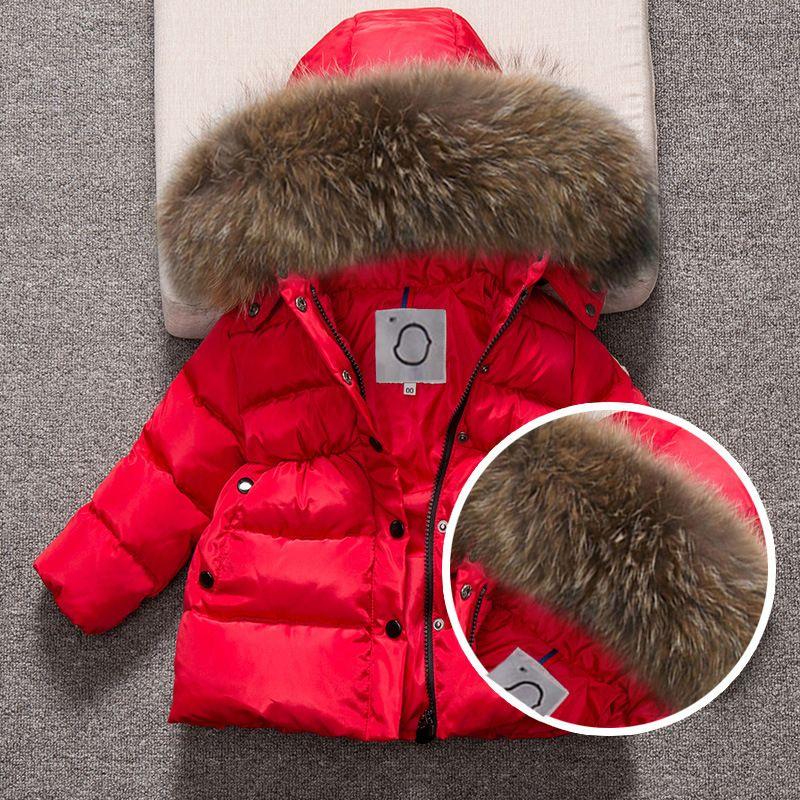 89daef5c6 Kids Snowsuit Hooded Boys Winter Coat Children Parkas Outerwear ...