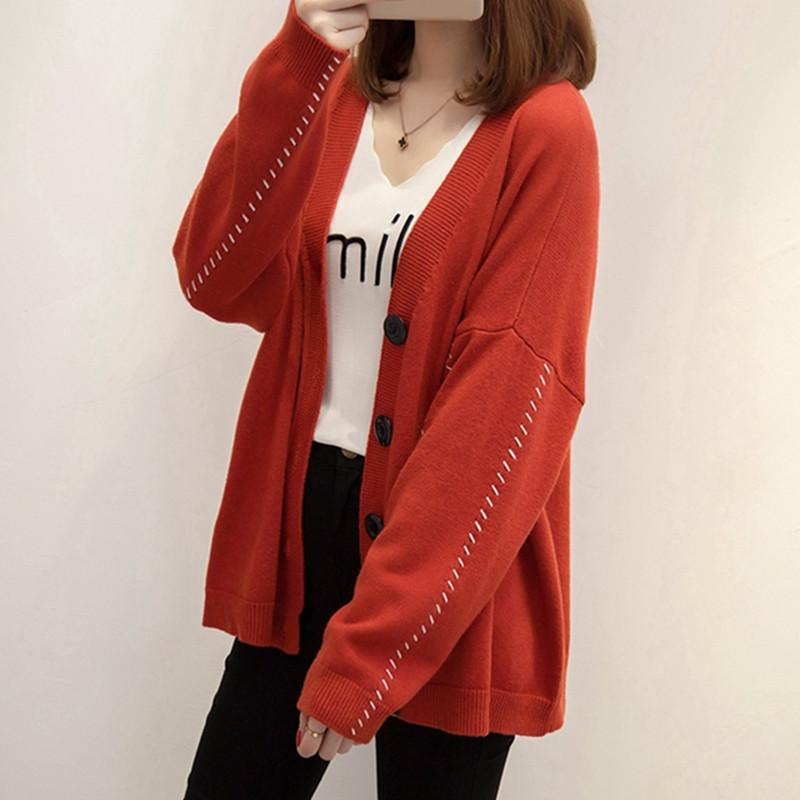 2017 New Autumn Winter Women Cardigan Sweater Casual Plus Size Loose Long  Sleeve Knitted Cardigan Oversized Coat Female UK 2019 From Sikaku e82ff04cc