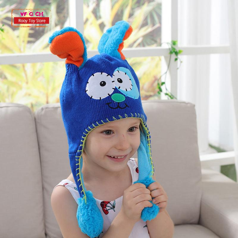 af869cacf9b 2019 Earflap Flipeezd Magic Baby Hat Toys For Kids Animal Monster Action  Bonnet Elf Infant Funny Toy Hats Children Christmas Gift From Roohua