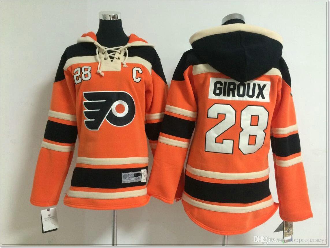 New Philadelphia Flyers  28 Claude Giroux Women Vintage Ice Hockey ... bee00baf5