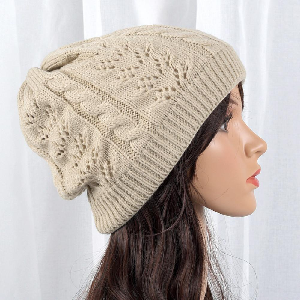 e972c70bb1b 2019 Winter Hat Thick Fleece Lining Solid Color Knitted Beanie Men Women  Warm Cap New From Yangmeijune