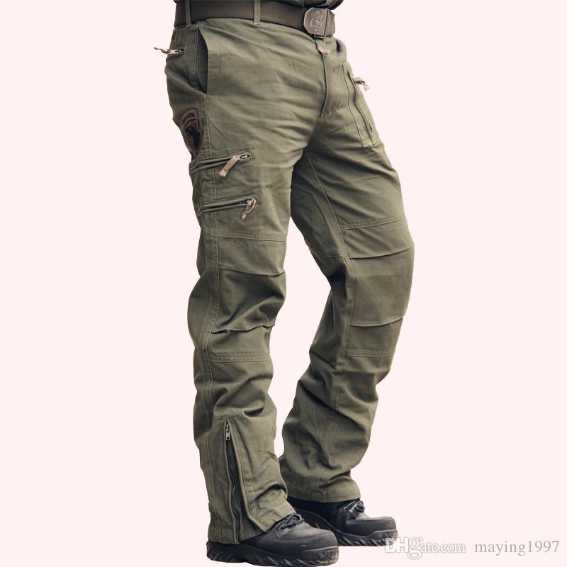 453924c0c7e Tactical Pants Male Camo Jogger Casual Plus Size Cotton Trousers ...