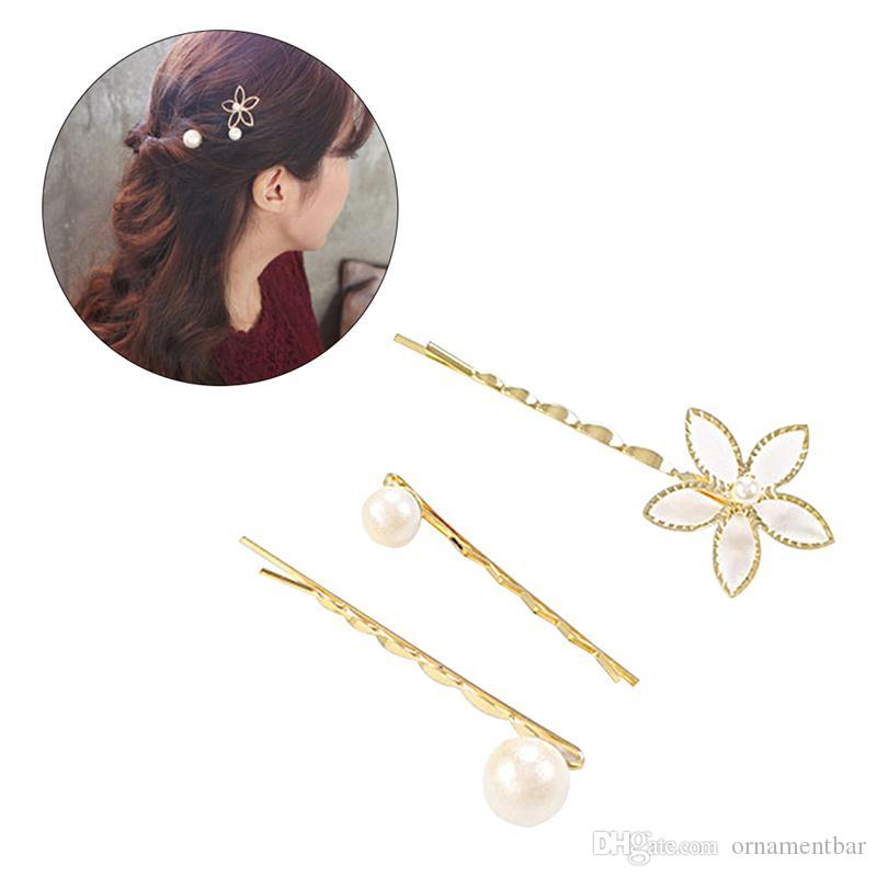 2019 Flower Pearl Bobby Pins Women Hair Clip Decoration Wedding