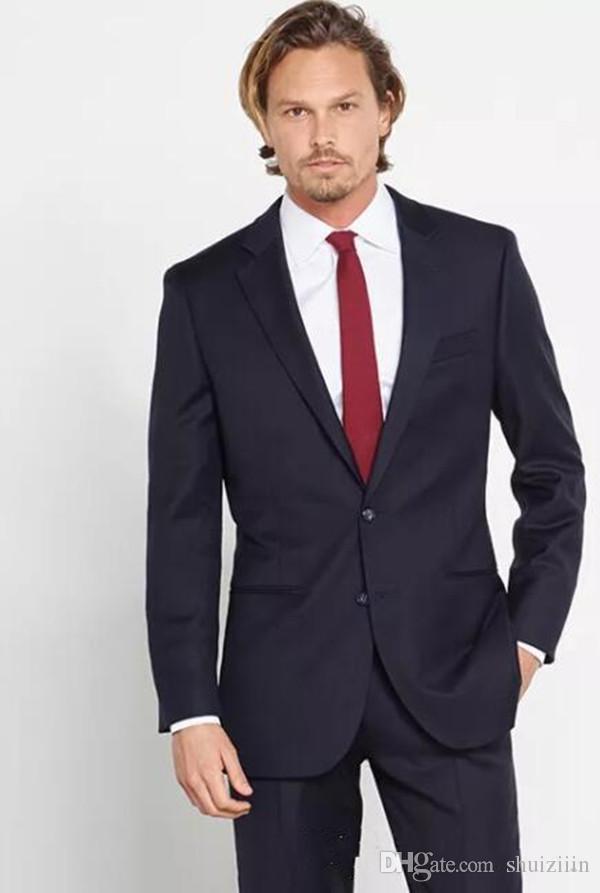 Custom Made Men Suit Pour Le Mariage Slim Fit Groomsmen Tuxedos Meilleurs Hommes Costumes Formels De Fête De Bal Veste + Pantalon