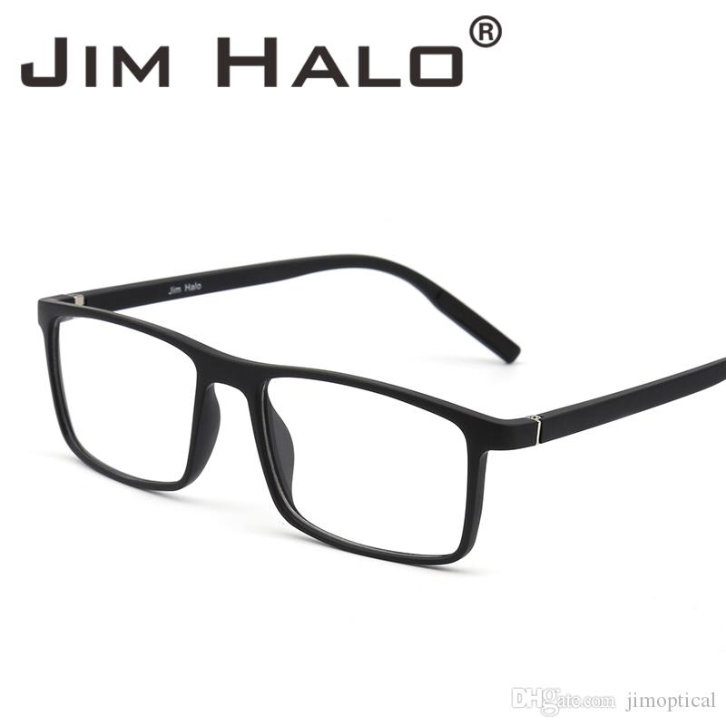 c94c71a743 2019 Jim Halo Retro Optical TR Frame Lightweight Spring Hinge Non  Prescription Clear Lens Glasses Men Women Eyeglasses From Jimoptical