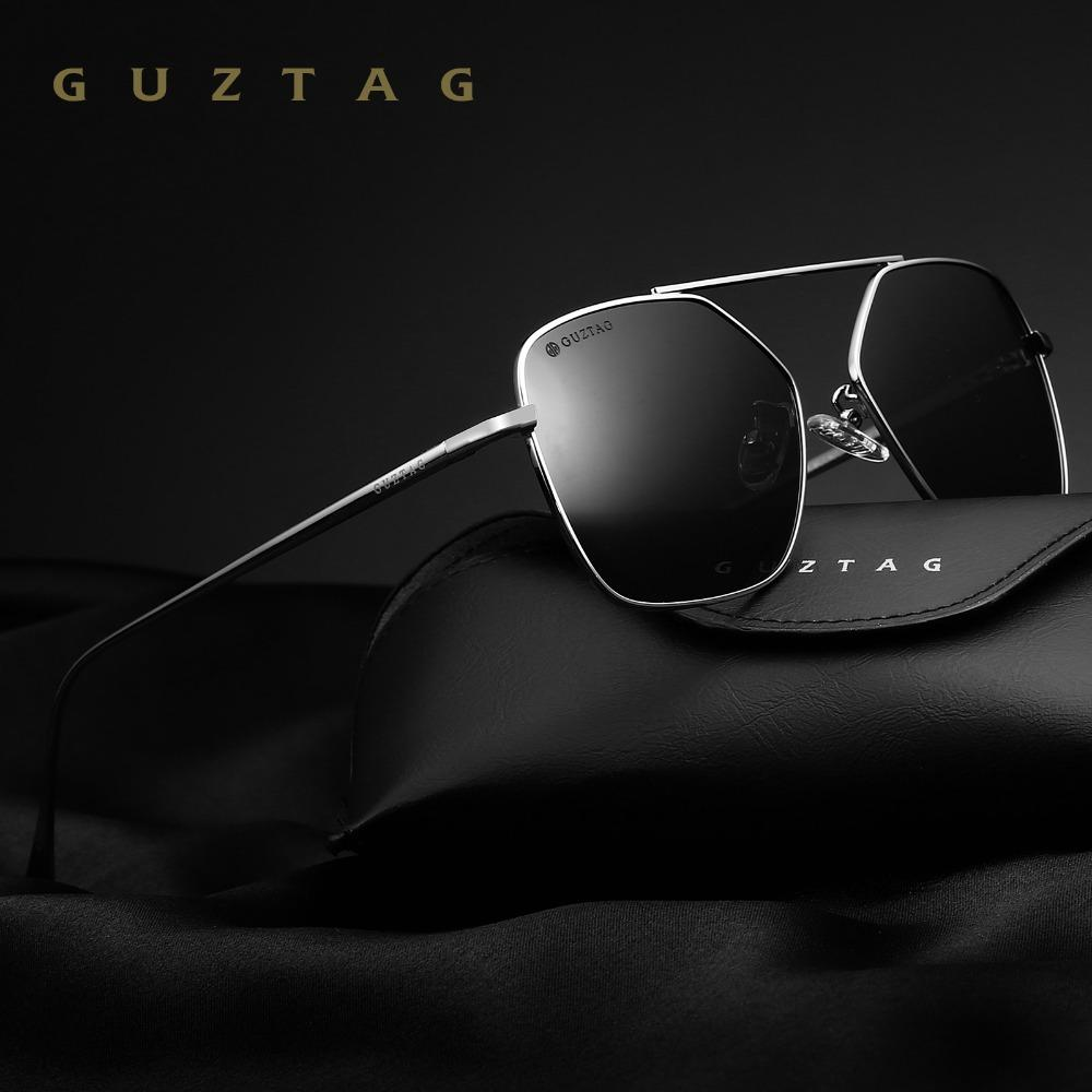 906b394d6c GUZTAG Unisex Stainless Steel Square Sun Glasses Men Women Eyewear HD  Polarized Mirror UV400 Sunglasses For Men Oculos G8088 Serengeti Sunglasses  Sun ...