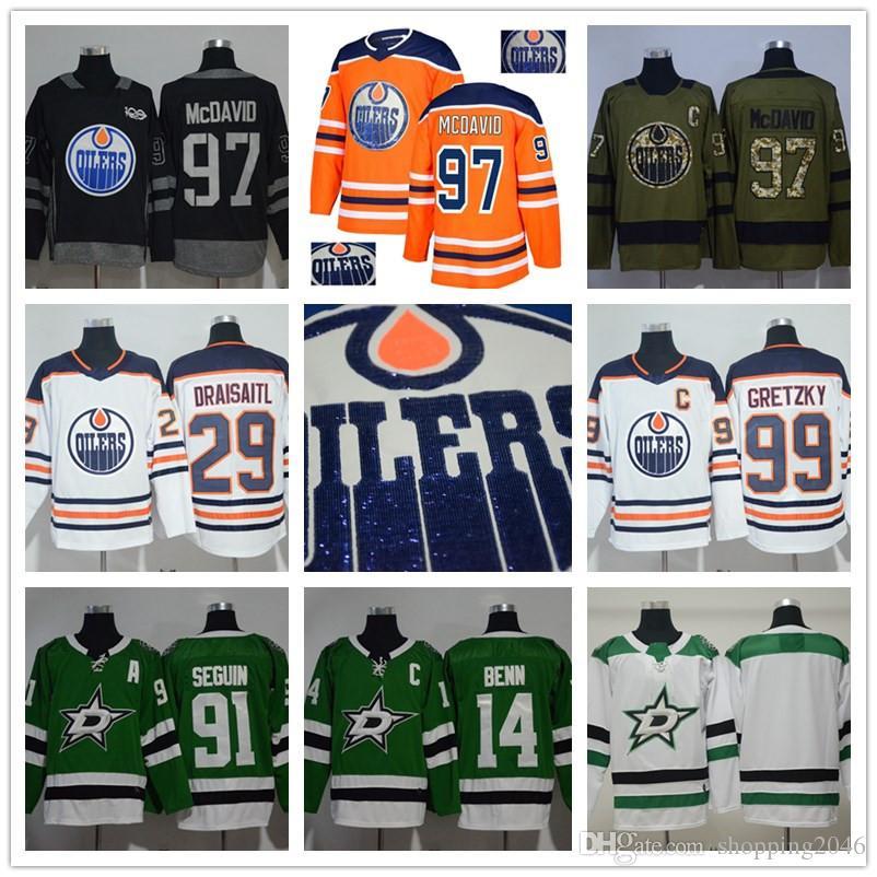 9fb9f439e2e Men s Edmonton Oilers 97 Connor McDavid 99 Wayne Gretzky 29 Leon ...