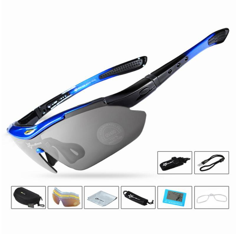 af332448203 2019 Polarized Cycling Glasses Men Women Oculos Gafas Ciclismo 5 Lens Clear Bike  Glasses Eyewear UV400 Proof Outdoor Sport Sunglasses From Hlq1027
