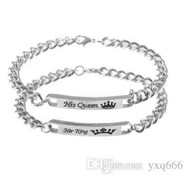 New Lettering Crown Bracelet KI QUEEN KI KING Bracelet Bracelet