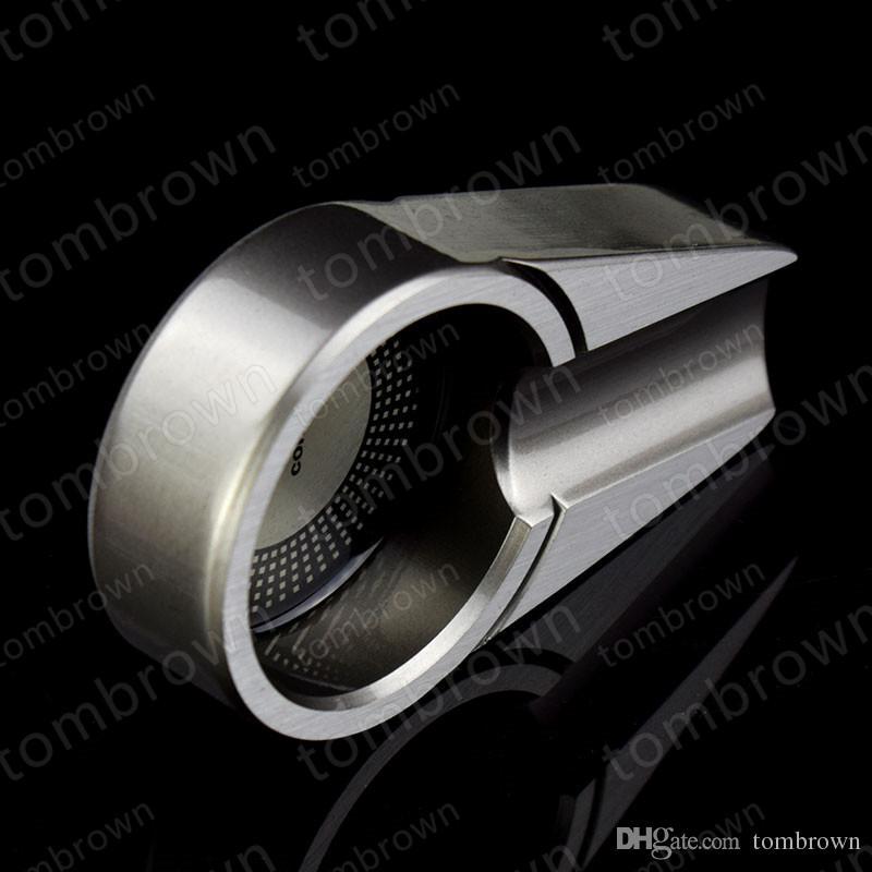 Moda personalidade requintada embalagem nova qualidade COHIBA cinza tamanho pequeno titanium metal charuto viagem cinzeiro portátil