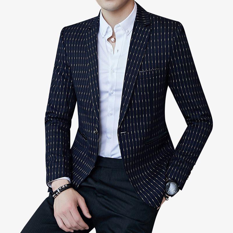 bd40c65a1029d Satın Al Nokta Çizgili Blazers Erkek Slim Fit Blazer Ince Iş Rahat Erkek  Şık Bahar Sonbahar Kore Versiyonu Suit Ceket D18101001, $84.1 |  DHgate.Com'da