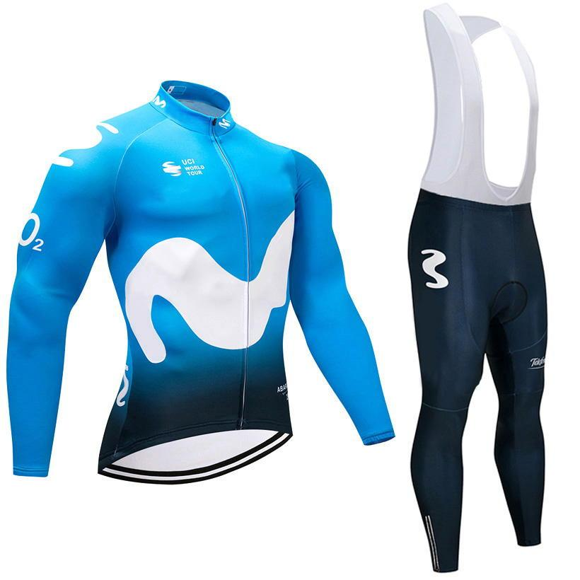 UCI 2018 Pro Team Espana Winter Thermal Fleece Cycling Jersey Bicycle  Clothing Ropa Ciclismo Invierno Road Bike Cycle Clothes Kit Bike Jersey  Cycling T ... 09eebeb69