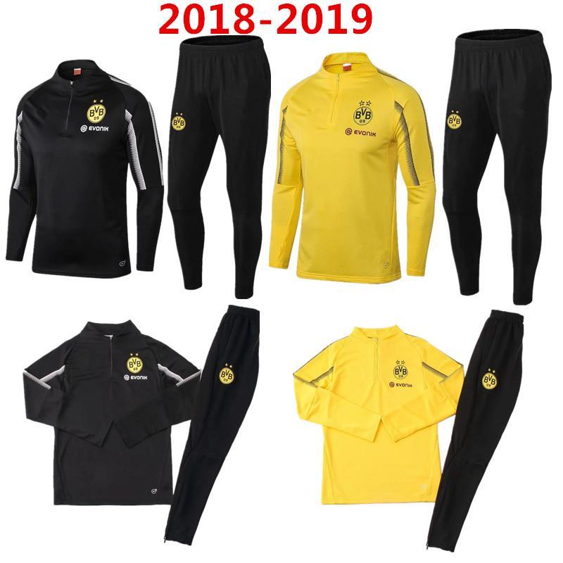 Compre 2018 2019 Dortmund BVB Traje De Entrenamiento De Fútbol Camiseta De Manga  Larga 18 19 REUS PULISIC M.GOTZE Chaqueta De Fútbol Borussia Ropa Deportiva  ... 587138ffc7032
