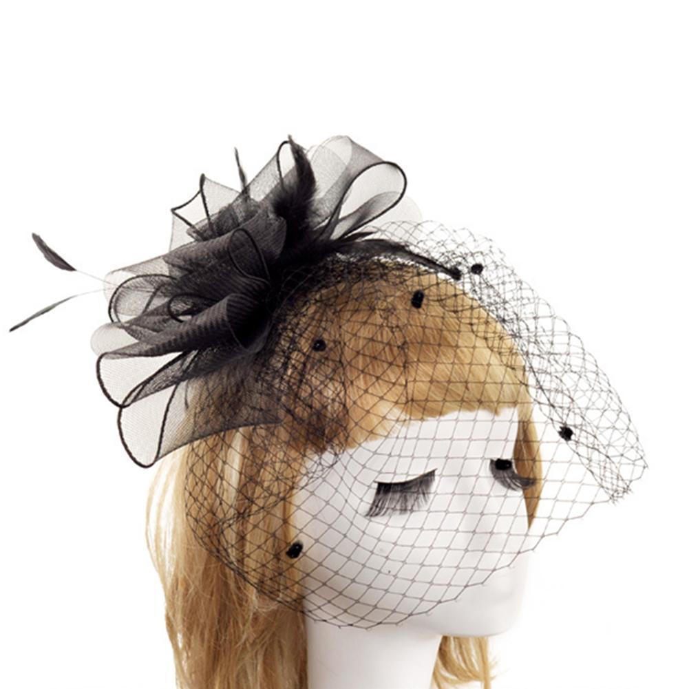 Bridal Gauze Hat Mahjong Headband Tiara Retro Photo Studio Banquet Wedding Dress Accessories Women Hair Clip Red Birthday Hats