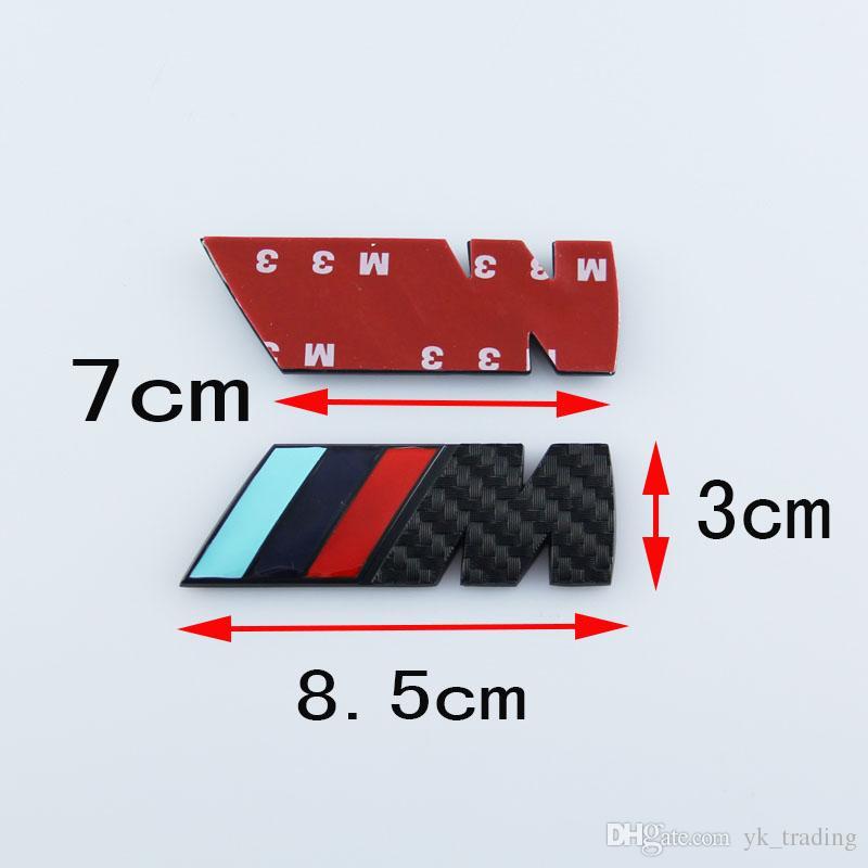 8cm * 3cm Bmw M3 M5 M 파워 스포츠 메탈 M 로고 배지 브랜드 리어 테일 트렁크 펜더 엠블럼 스티커 데칼