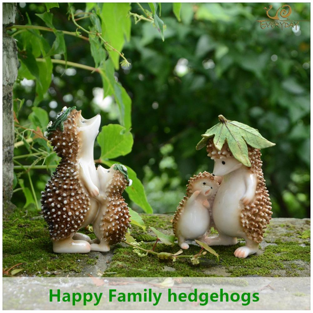 Garden Decoration Everyday Collection Mini Fairy Garden Decoration Hedgehog  Animal Figurine Ornament Tabletop Balcony Home Decor Garden Decoration ...