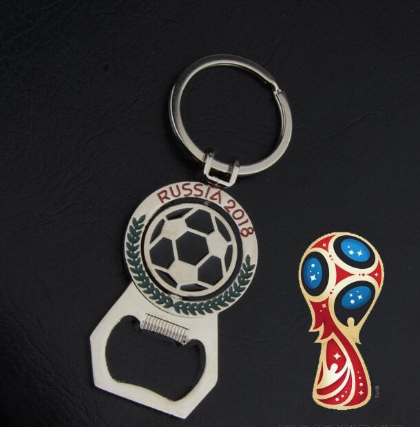 Football World Cup Bottle Opener Keychain Bag Pendant Rotatable Bottle Openers Mascot Bottle Openers Kitchen Supplies Openers Car Keychain