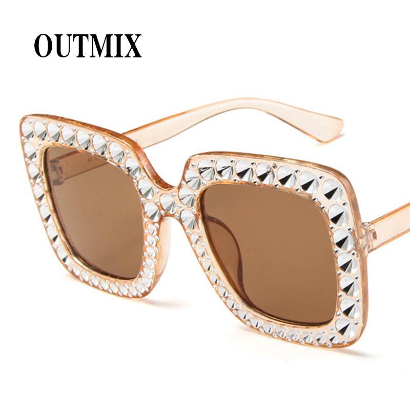 Großhandel Luxus Designer Übergroße Große Rahmen Sonnenbrille Für ...