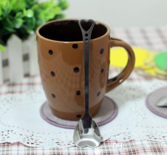 Форма сердца из нержавеющей стали кофейная ложка десерт сахар перемешивание ложка мороженое йогурт мед ложка кухня горячий подарок
