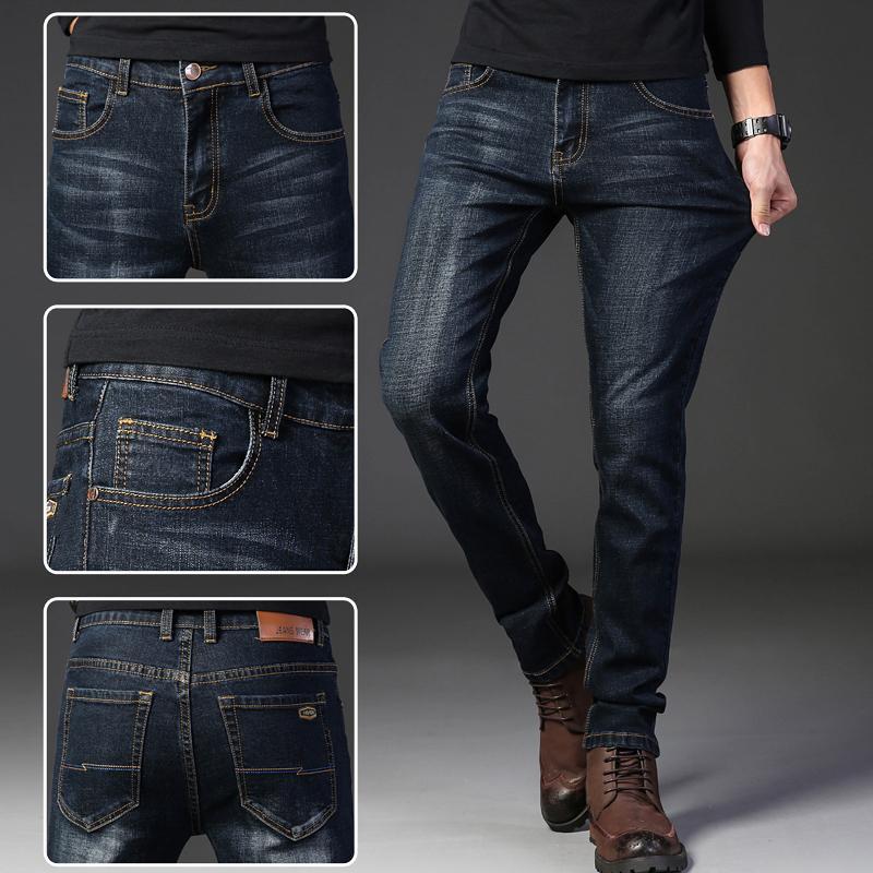 a35fa66f64 Compre Jeans Homme Hombre Vaqueros Hombre Skinny Pantalon Jean Celana Pria Pantalones  Slim Blue Negro Super Spijkerbroeken Heren Cargo A  38.31 Del ...