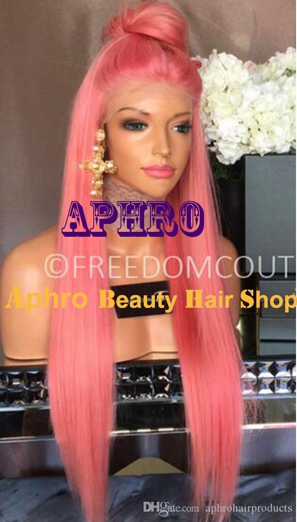 "Wholesale Luxury 20""-30"" 180% Density Long Pink Silk Top Glueless Full Lace Wigs for White Women Brazilian Hair 5x5 inch Silk"