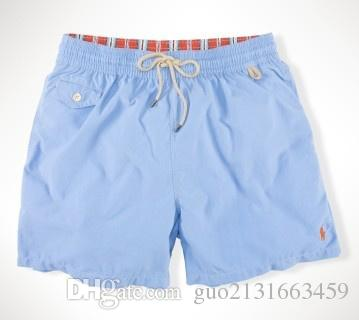 Summer Swimwear Beach Pants Mens Board Shorts Black Men Surf Shorts Small Horse Swim Trunks Sport Shorts de bain homme M-2XL..