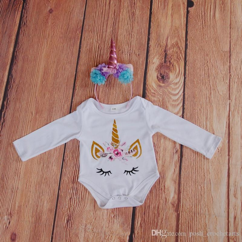 Unicorn Romper Baby Clothes Monogram Blank Glitter Feather Unicorn Face Onesie for Newborn Baby Easter Clothes Etsy crafting Boy Clothing