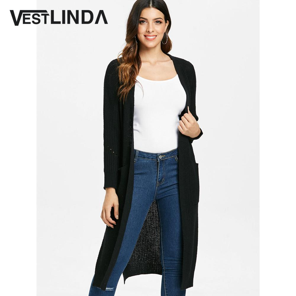 641bd8c15200ac 2019 Wholesale Long Cardigan Side Slit Duster Knit Cardigan Sweater Women  Clothing Long Sleeves Female Cardigans 2018 Autumn Cardigan From  Clothesg119, ...