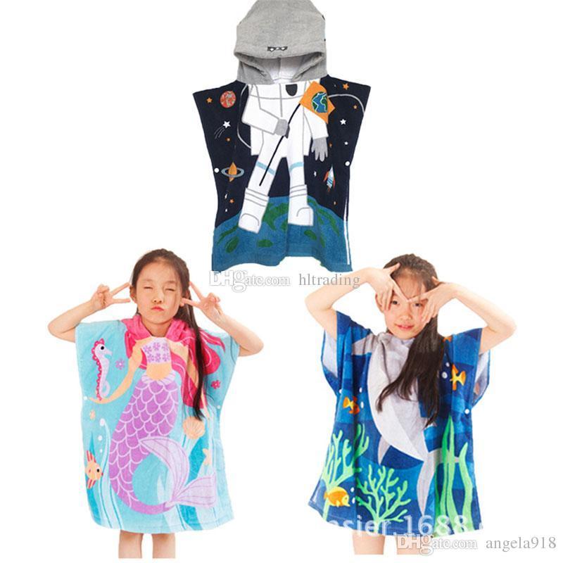 12 Styles Mermaid Shark Bathrobe Kids Robes Cartoon Animal Nightgown  Children Towels Hooded Bathrobes C4243 Animal Bathrobe Cartoon Bathrobe  Baby Robes ... 23fd28f67