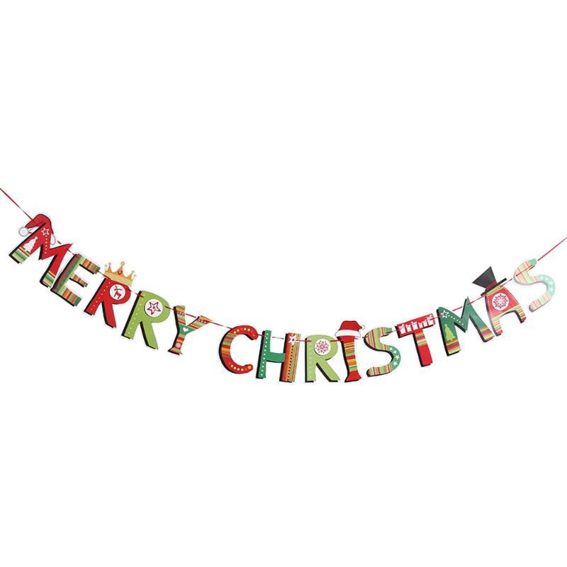 2018 merry christmas garland bunting flag xmas tree socks christmas letters home market mall decorations party banner decor from anzhuhua 2437 dhgate