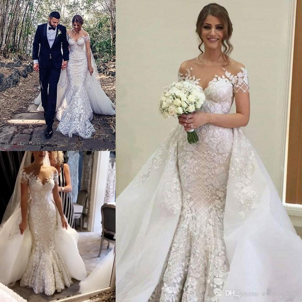 2018 Custom Made Pure White Wedding Dresses Off Shoulder Lace