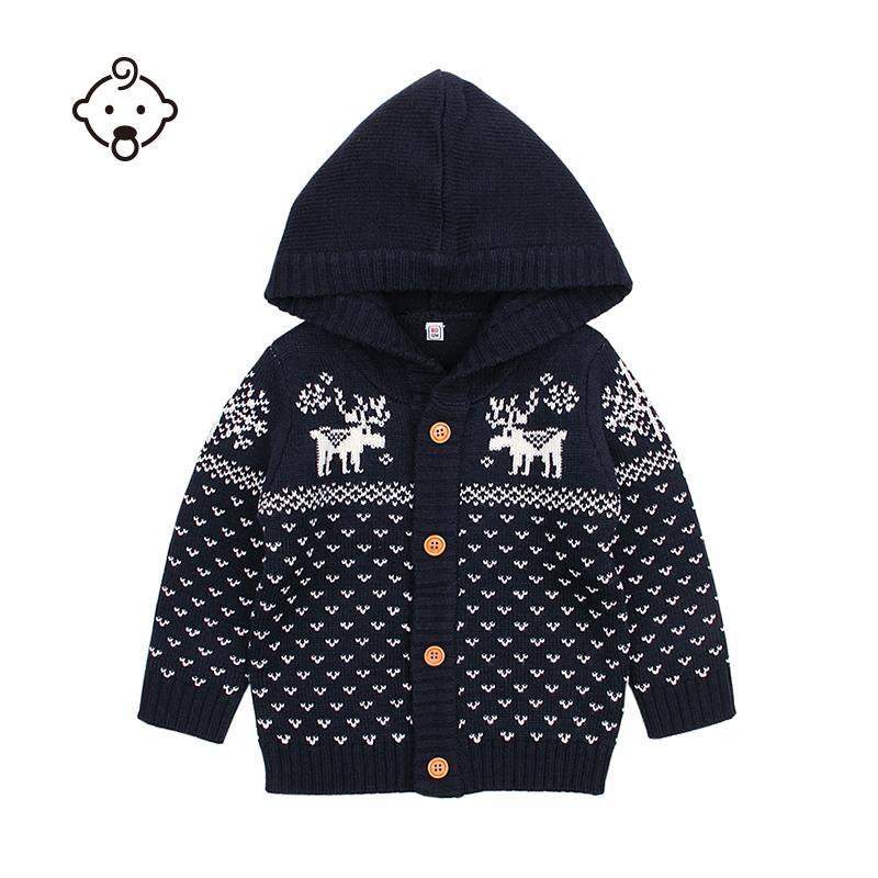 Großhandel Baby Pullover Mädchen Jungen Stricken Weihnachten Rentier ...