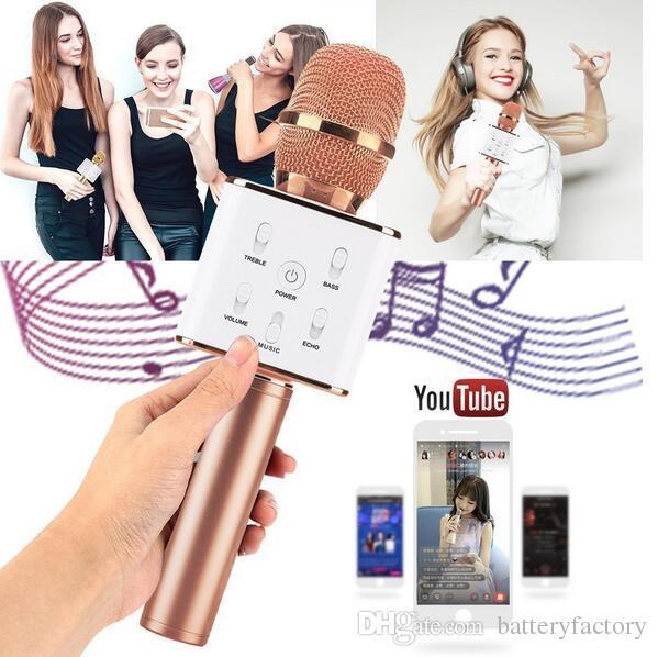 Q7 Handheld Microphone Bluetooth Wireless Magic KTV With Speaker Mic Handheld Loudspeaker Portable Karaoke Player For Smartphone