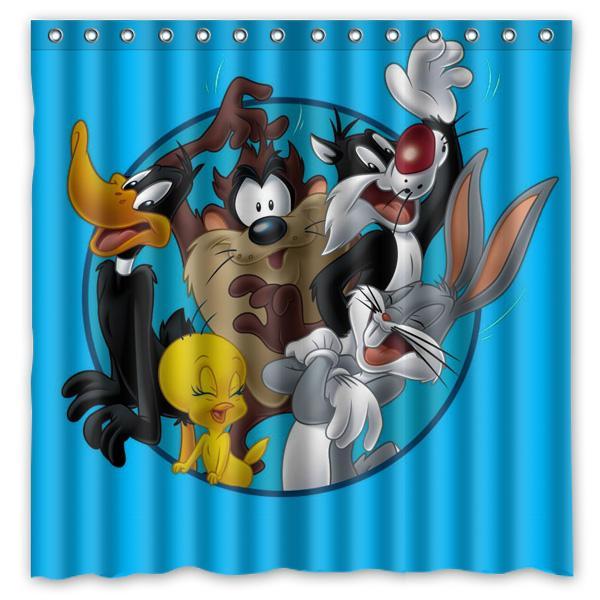 2019 2016 Bugs Bunny Waterproof Polyester Shower Curtain Cartoon Rabbit Mildewproof Bath Curtains Cortinas Para Banheiro 180x180CM From Huayama