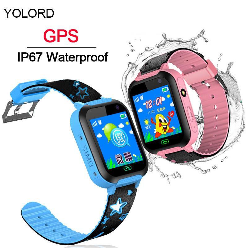 Beautiful Gift GPS LBS Location Call SOS Remote Monitor Camera Flash Light  Smart Watch Smartwatch Kids Student Children Boy Girl