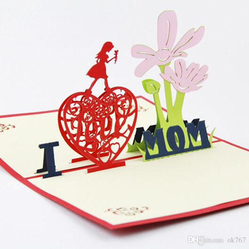 Wholesale mothers day card 3d pop up greeting card handmade thanks wholesale mothers day card 3d pop up greeting card handmade thanks mum card card for mum funny greeting cards graduation greeting cards from ok767 m4hsunfo