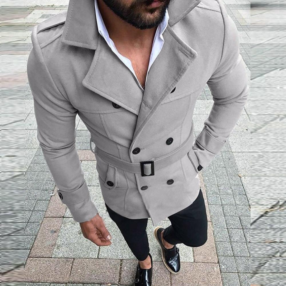 15eeef04f917 Großhandel Herren Trenchcoat 2018 New Fashion Designer Männer Mantel  Schwarz Blau Braun Grau Weinrot Herbst Winter Winddicht Schlanke Graben  Männer Von Cety ...