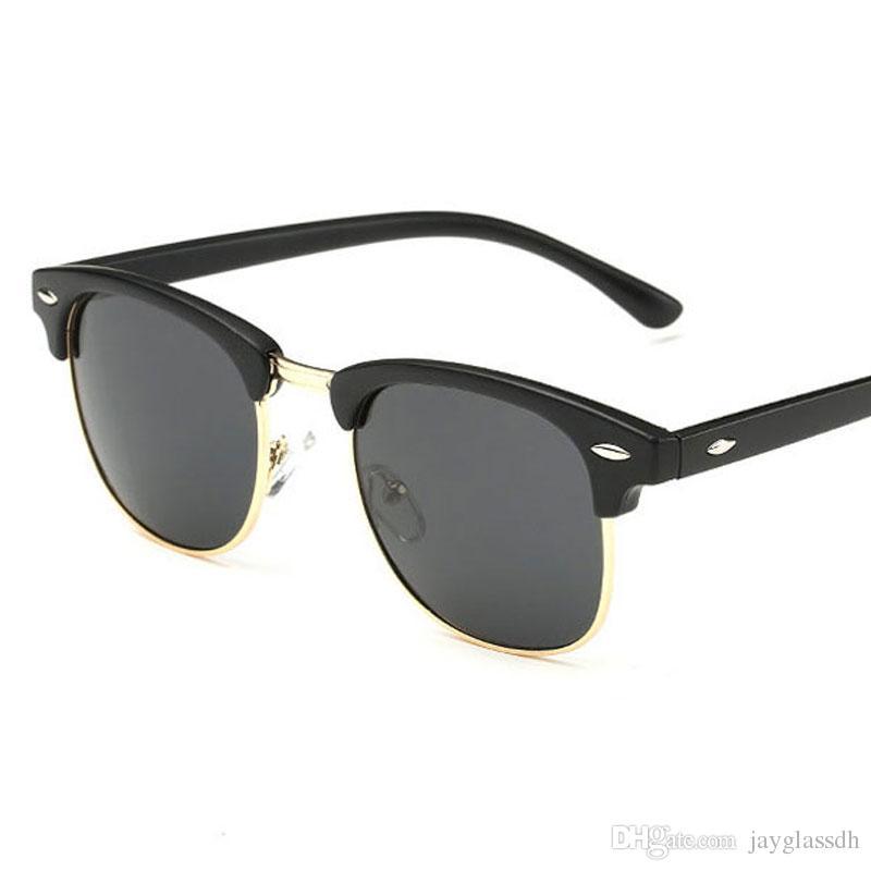 8c28a9074013 Classic Men Half Frame Polarized Sunglasses Women Vintage Brand ...