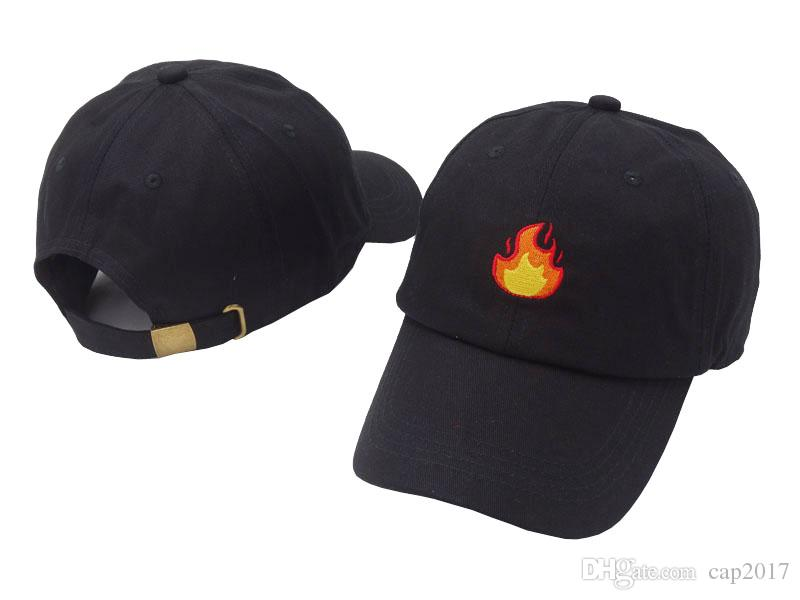 2018 Fashion Baseball Cap With FIRE Flame Embroidery Men Hat Summer Fall  Brand Cotton Black Caps Women Men Hat Trucker Dad Hats Ball Caps Fitted Caps  From ... 5e0b951da4b5